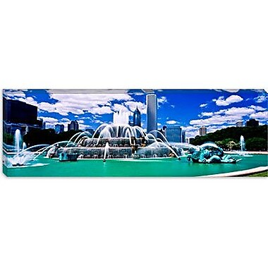 iCanvas Panoramic Buckingham Fountain Photographic Print on Canvas; 30'' H x 90'' W x 1.5'' D
