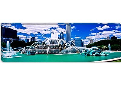 iCanvas Panoramic Buckingham Fountain Photographic Print on Canvas; 12'' H x 36'' W x 1.5'' D