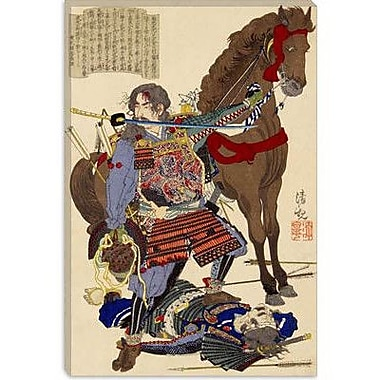 iCanvas Samurai and Horse Japanese Woodblock Painting Print on Canvas; 18'' H x 12'' W x 0.75'' D