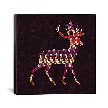iCanvas 'Ikat Deer' by Budi Satria Kwan Graphic Art on Canvas; 12'' H x 12'' W x 0.75'' D