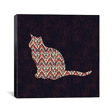 iCanvas 'Ikat Cat' by Budi Satria Kwan Graphic Art on Canvas; 18'' H x 18'' W x 1.5'' D