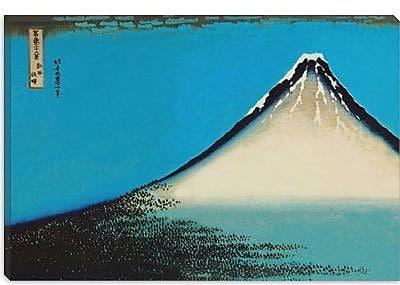 iCanvas 'Mount Fuji' by Katsushika Hokusai Painting Print on Canvas; 18'' H x 26'' W x 0.75'' D
