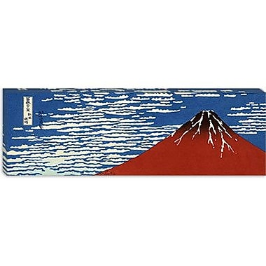 iCanvas 'Mount Fuji' by Katsushika Hokusai Graphic Art on Canvas; 12'' H x 36'' W x 1.5'' D