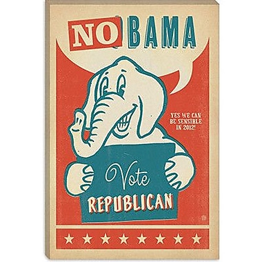 iCanvas Anderson Design Group 'No Bama' Vintage Advertisement on Canvas; 26'' H x 18'' W x 0.75'' D