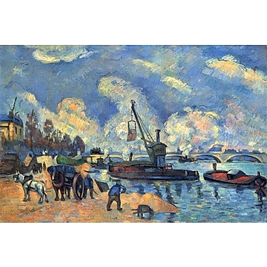 iCanvas 'Seine at Bercy' by Paul Cezanne Painting Print on Canvas; 12'' H x 18'' W x 0.75'' D