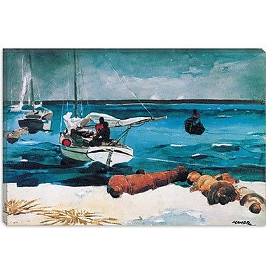 iCanvas Nassau 1899 by Winslow Homer Painting Print on Canvas; 26'' H x 40'' W x 0.75'' D
