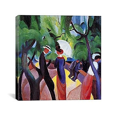 iCanvas 'Promenade' by August Macke Painting Print on Canvas; 37'' H x 37'' W x 1.5'' D