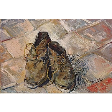 iCanvas 'Shoes 1888' by Vincent Van Gogh Painting Print on Canvas; 12'' H x 18'' W x 1.5'' D