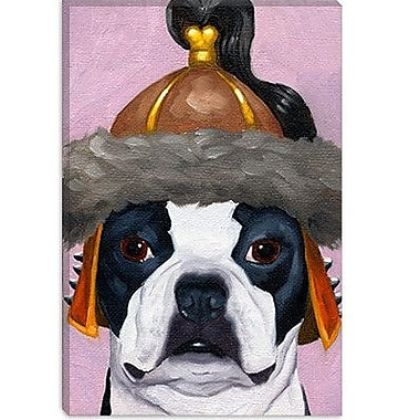 iCanvas 'Hat 31 Genghis' by Brian Rubenacker Graphic Art on Canvas; 40'' H x 26'' W x 0.75'' D