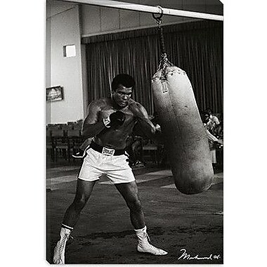 iCanvas Muhammad Ali Training Photographic Print on Canvas; 18'' H x 12'' W x 0.75'' D