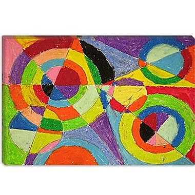 iCanvas 'Color Explosion' by Robert Delaunay Painting Print on Canvas; 12'' H x 18'' W x 0.75'' D
