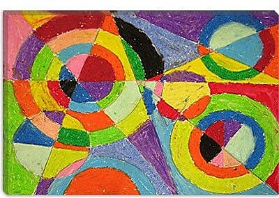 iCanvas 'Color Explosion' by Robert Delaunay Painting Print on Canvas; 18'' H x 26'' W x 1.5'' D