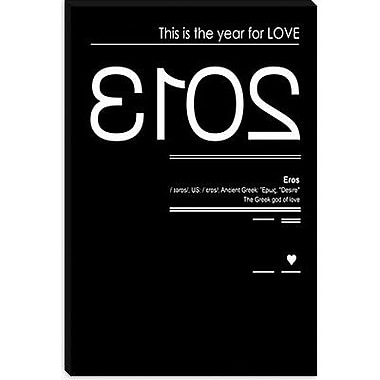 iCanvas 'Eros' by Budi Satria Kwan Textual Art on Canvas; 60'' H x 40'' W x 1.5'' D