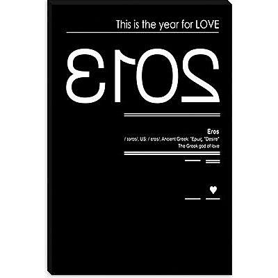 iCanvas 'Eros' by Budi Satria Kwan Textual Art on Canvas; 12'' H x 8'' W x 0.75'' D