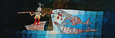 iCanvas 'Sinbad the Sailor' by Paul Klee Painting Print on Canvas; 20'' H x 60'' W x 0.75'' D