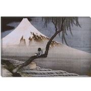 iCanvas 'Boy on Mt Fuji' by Katsushika Hokusai Painting Print on Canvas; 40 inch H x 60 inch W x 1.5 inch D by