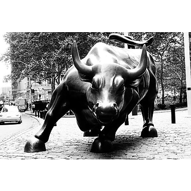 iCanvas Political 'Wall Street Bull' Photographic Print on Canvas; 12'' H x 18'' W x 1.5'' D