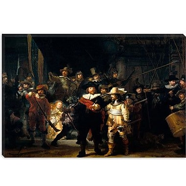 iCanvas 'Night Watch 1642' by Rembrandt Painting Print on Canvas; 12'' H x 18'' W x 0.75'' D