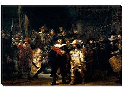 iCanvas 'Night Watch 1642' by Rembrandt Painting Print on Canvas; 26'' H x 40'' W x 1.5'' D