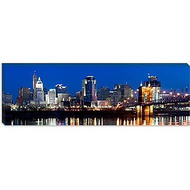 iCanvas Panoramic Skyscrapers Photographic Print on Canvas; 24'' H x 72'' W x 1.5'' D