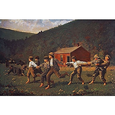 iCanvas 'Snap the Whip' by Winslow Homer Painting Print on Canvas; 18'' H x 26'' W x 1.5'' D