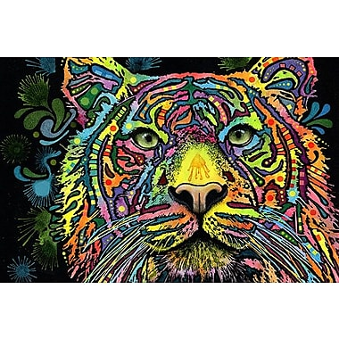 iCanvas 'Tiger' by Dean Russo Graphic Art on Canvas; 8'' H x 12'' W x 0.75'' D