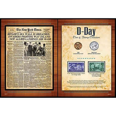 American Coin Treasure New York Times D Day Coin and Stamp Memorabilia