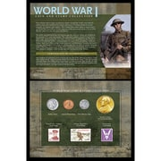 American Coin Treasure World War I Coin and Stamp Framed Memorabilia