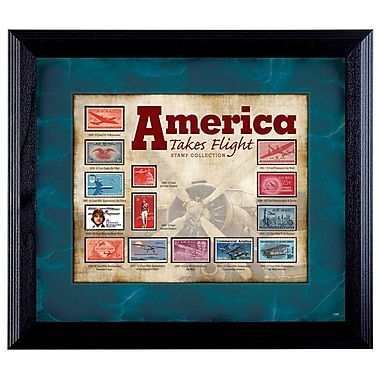 American Coin Treasure America Takes Flight Stamp Framed Memorabilia