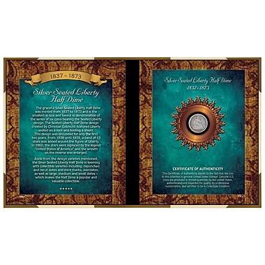 American Coin Treasure Silver Seated Liberty Half Dime Memorabilia