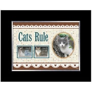 American Coin Treasure Cats Rule Picture Frame