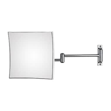 WS Bath Collections Mirror Pure Quadrolo Magnifying Cosmetic Mirror; 7.9'' x 7.9'' x 18.1''