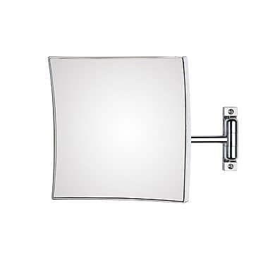 WS Bath Collections Mirror Pure Quadrolo Magnifying Cosmetic Mirror; 7.9'' x 7.9'' x 12.2''