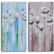 My Art Outlet Mystic Floral Forms' 2 Piece Painting on Wrapped Canvas Set