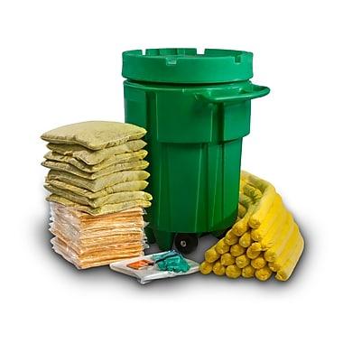Evolution Sorbent Products Hazmat Absorbent Wheeled Ecofriendly Spill Kit ,Yellow