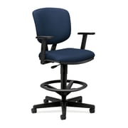 "HON Volt® Swivel Mid-Back Task Stool with Arms, Fabric, Navy, Seat: 27""W x 29 1/2""D, Back: 16 1/2""W x 20""H NEXT2017"