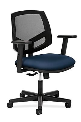 HON Volt® Ergonomic Mid-Back Task Chair, Mesh/Fabric, Navy, Seat: 19 1/4