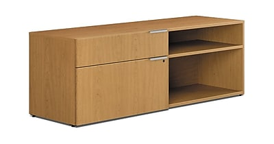 HON® Voi® Laminate 1 File/1 Box Drawer Left Handed Low Credenza, Harvest