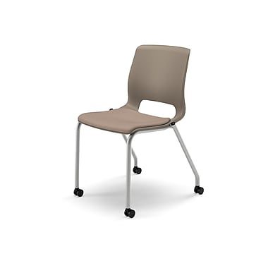 HON® Motivate® Stacking Chair, Morel/Platinum Metallic, 2/Carton (HONMG201CU24)