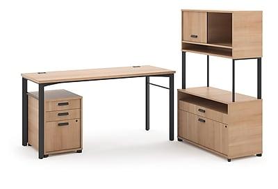 HON Manage L-Workstation, Desk, File Center, Pedestal, Overhead, 72