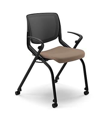 HON® Motivate® Mesh Back Nesting Stacking Chair, Morel/Black (HONMN202SDCU24)