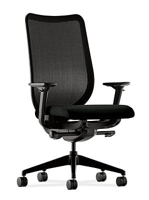 HON Nucleus Fabric Computer and Desk Office Chair, Adjustable Arms, Black (HONN103NT10.COM) NEXT2017