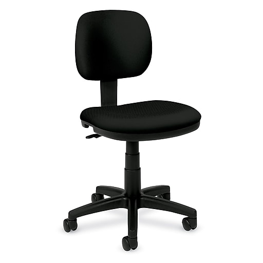 f96405f2ede basyx by HON® BSXVL610VA10 VL610 Fabric Light Duty Low-Back Office Chair