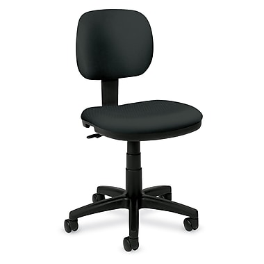 HON Fabric Computer and Desk Office Chair, Armless, Charcoal (HVL610VA19.COM)
