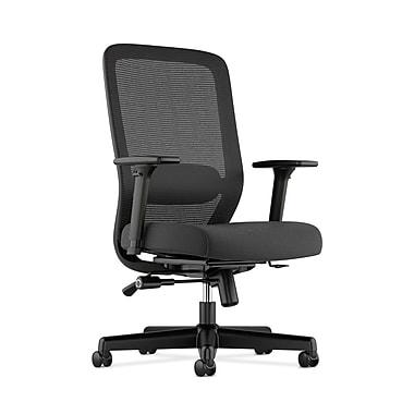 basyx by HON HVL721 Mesh Task Chair, Synchro-Tilt, Lumbar, Seat Glide, 2-Way Arms, Black Fabric