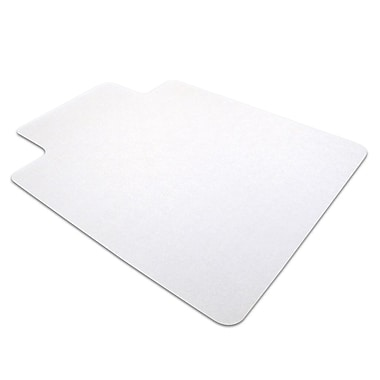 Floortex Anti-Static 48''x36'' PVC Chair Mat for Carpet, Rectangular w/Lip (319226LV)