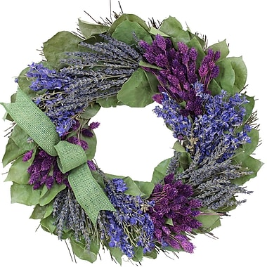 The Christmas Tree Company Lavender and Larkspur Dried Floral Wreath 16