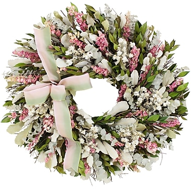 The Christmas Tree Company Blush and Blossoms Dried Floral Wreath 18