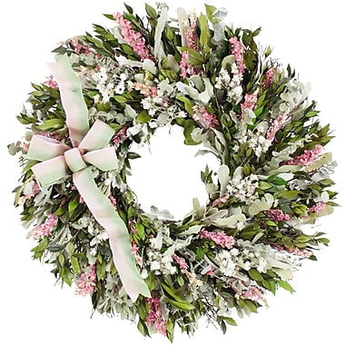 The Christmas Tree Company Blush and Blossoms Dried Floral Wreath 22