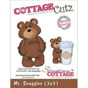 """CottageCutz® 3"""" x 3"""" Universal Thin Die, Mr. Snuggles"""